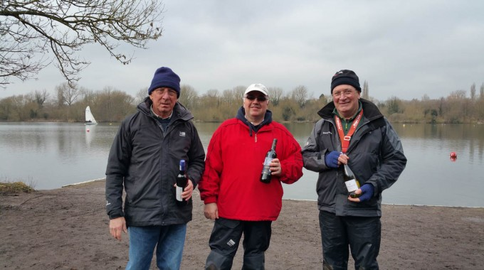 Winners Of The Team Race. Left To Right, Martin Crysell, Terry Rensch, John Shorrock
